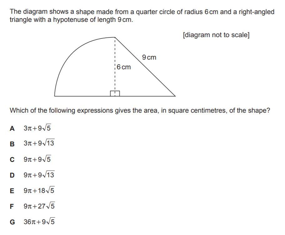BMAT Geometry Practice Question