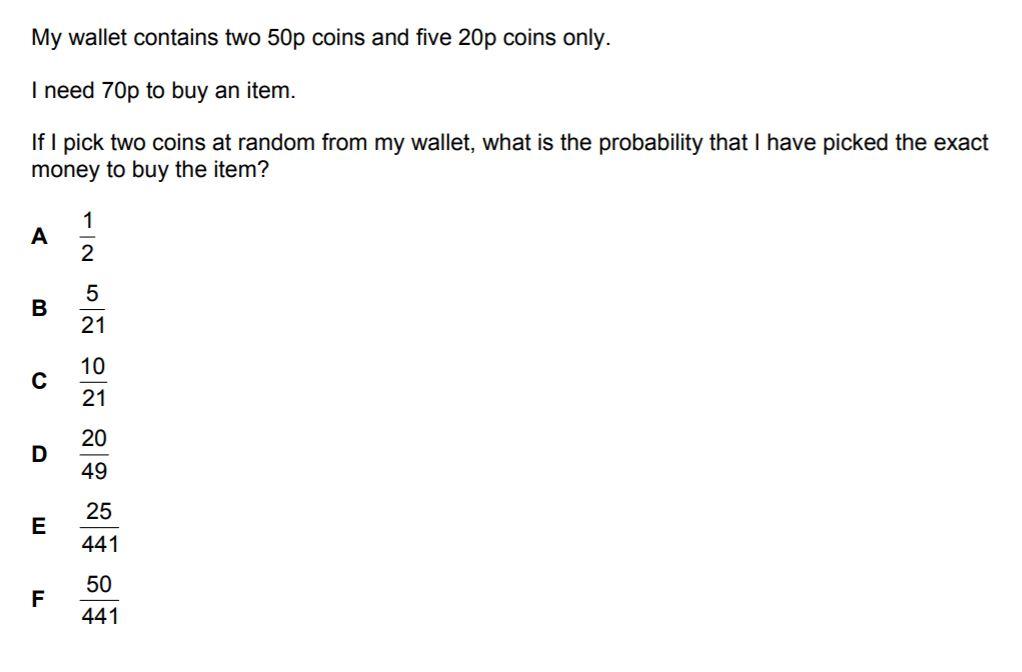 BMAT Probability Practice Question